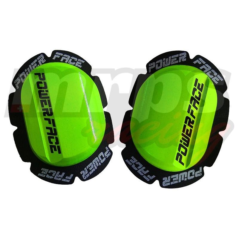 Sliders en bois Power-Face K1 (vert fluo)
