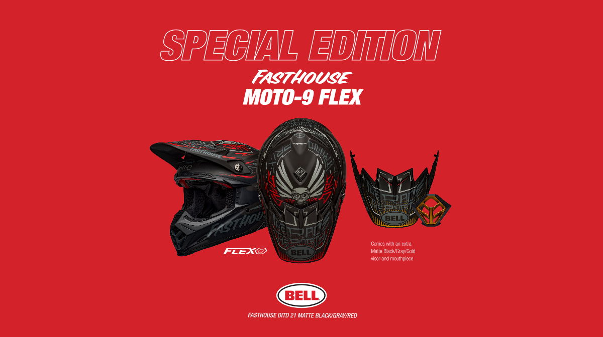 Edition spéciale Bell Moto-9 Flex Fasthouse DITD 21