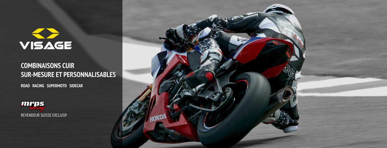 Combinaison cuir sur-mesure Visage Moto Custom Suit CTS
