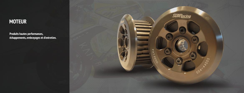 Produits moteur hautes performances, échappements, embrayages et d'entretien.