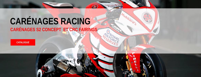 Carénages racing S2 Concept et CRC Fairings